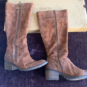 Women's suede boots by Born size 11